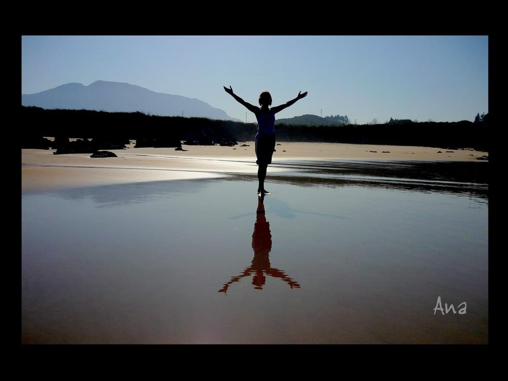 Reflejo en la arena
