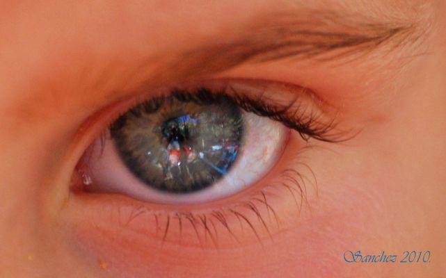Reflejo en sus ojos.