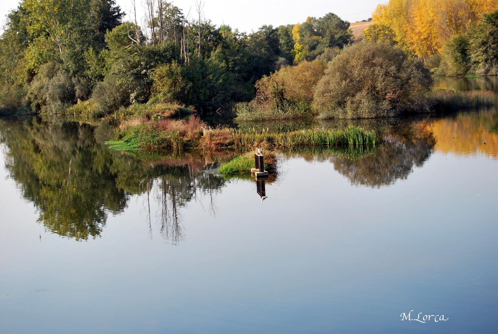 reflejos en el rio tormes