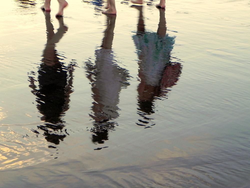 reflejos en la arena