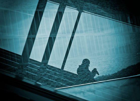 Reflet de la vitre
