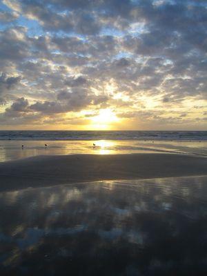 reflet des nuages dans la mer