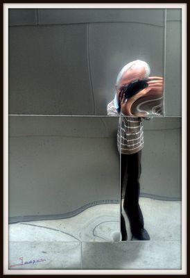 reflet réalisé au walt disney concert hall à los angeles