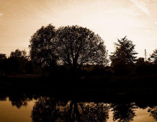 reflet sur le canal