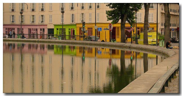 Reflets canal St Martin