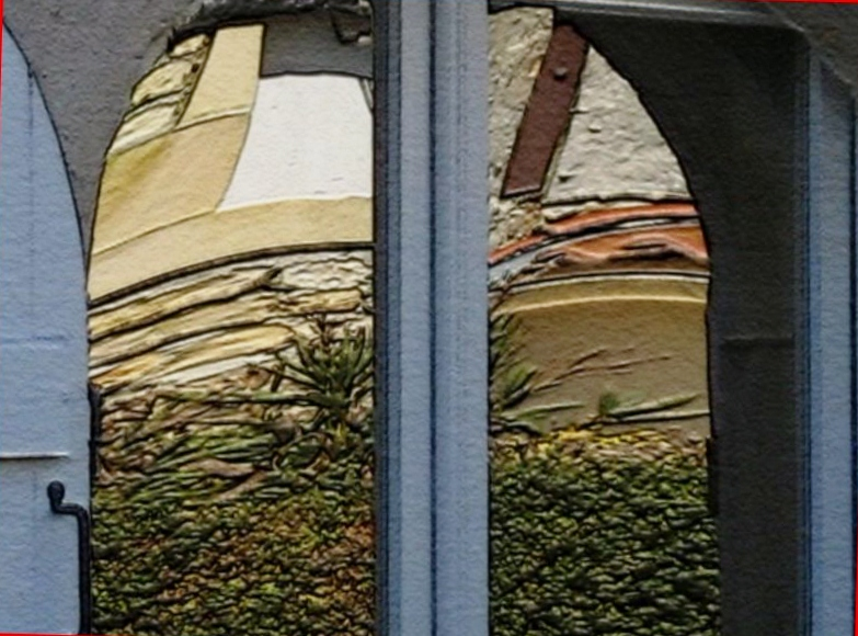 Reflets dans la fenêtre