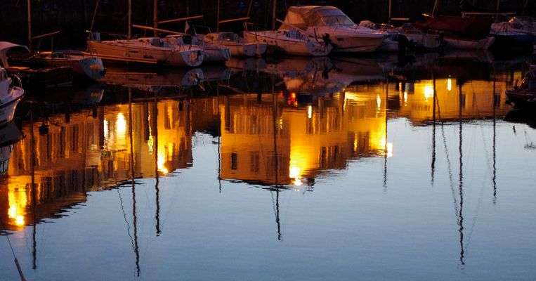 Reflets du port