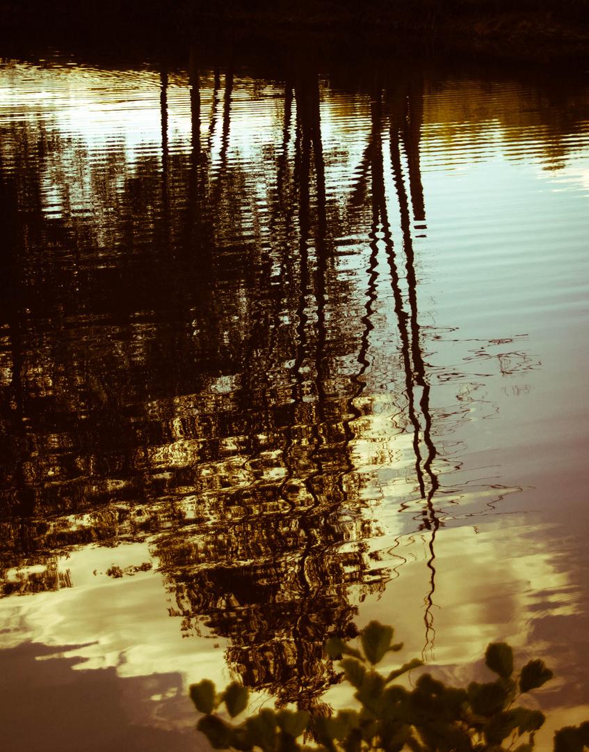 Reflets soleil couchant
