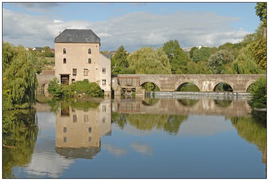 Reflets sur la Sarthe