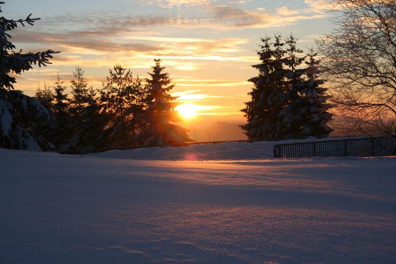 Reflexe im Schnee