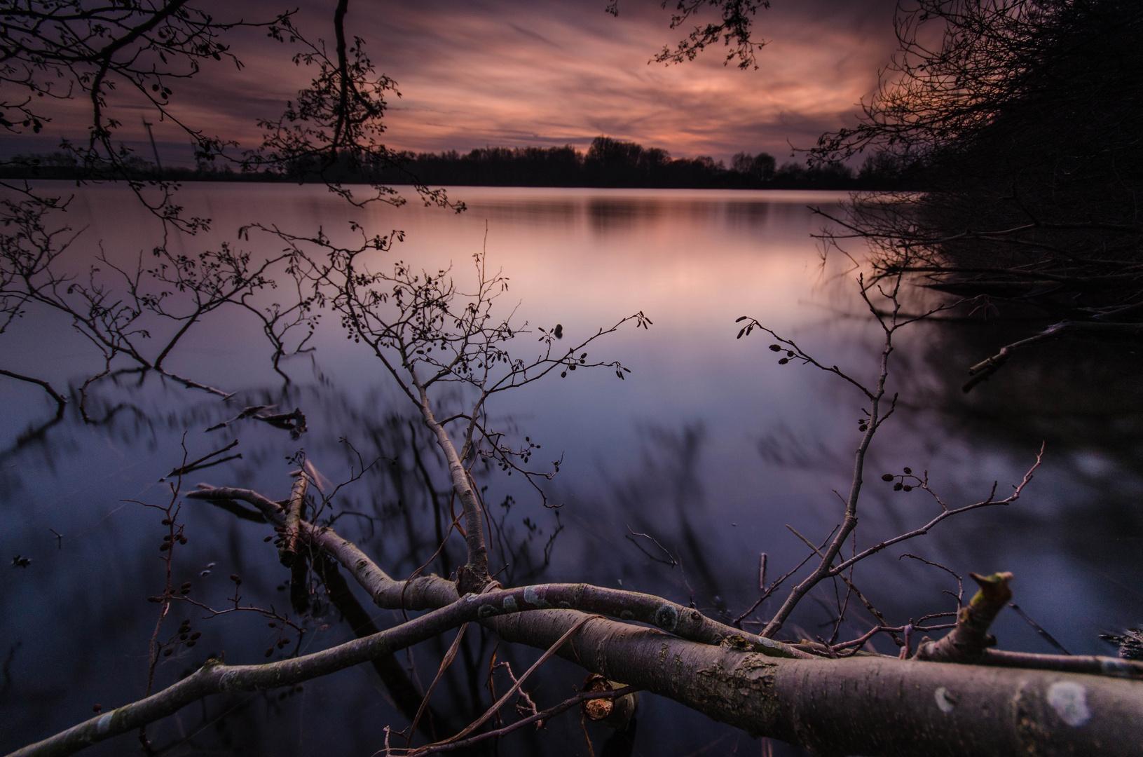 Reflexion im Sonnenuntergang