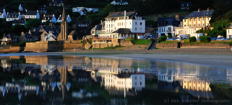 Reflexion on water at Saint-Michel-en-Greve, Brittany France