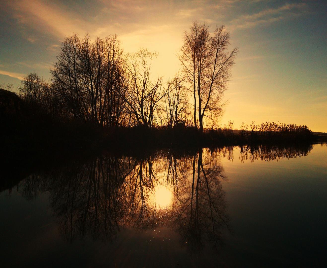 Reflexionen im Wasser I