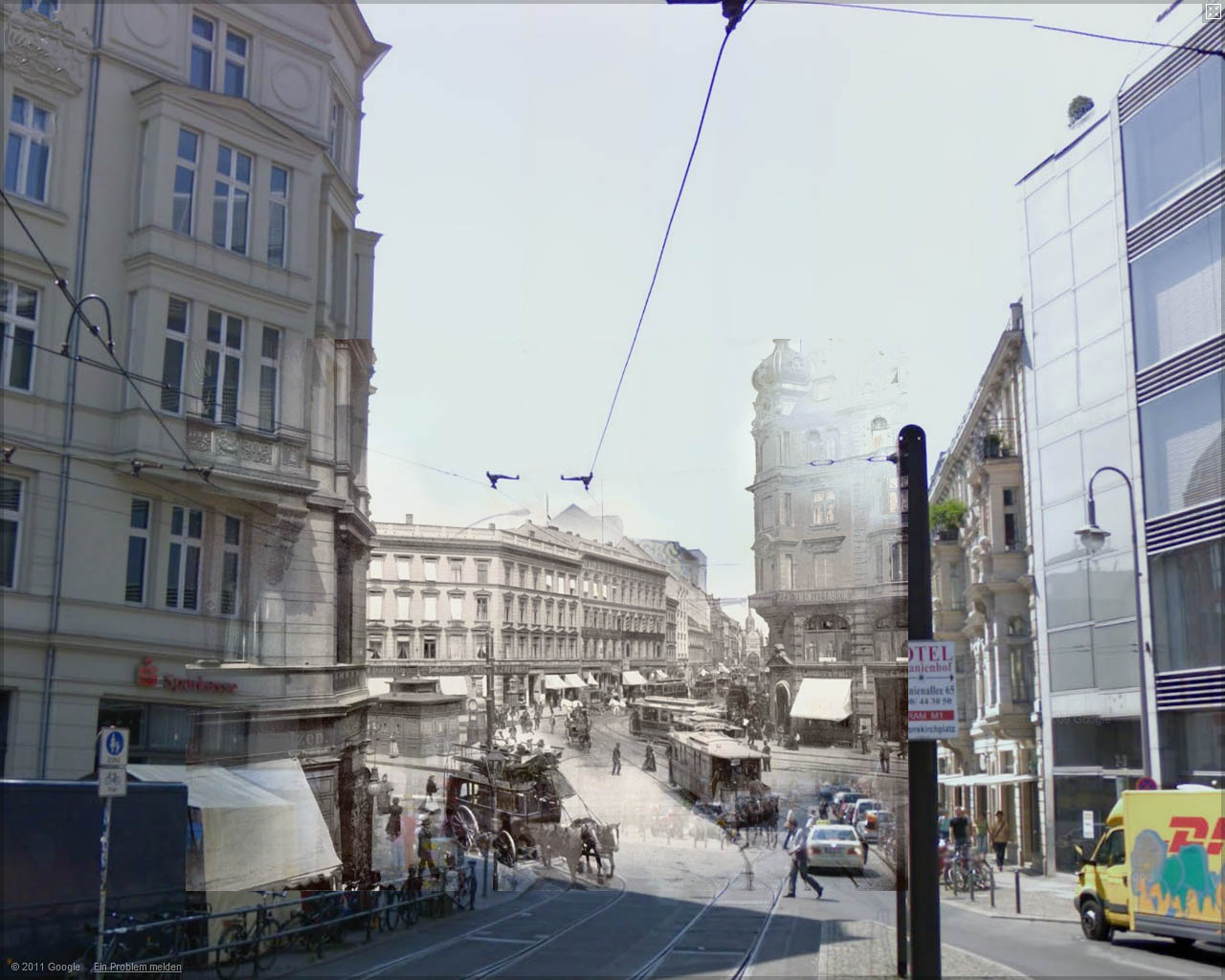 Refotografie - Hackescher Markt 1900/2008