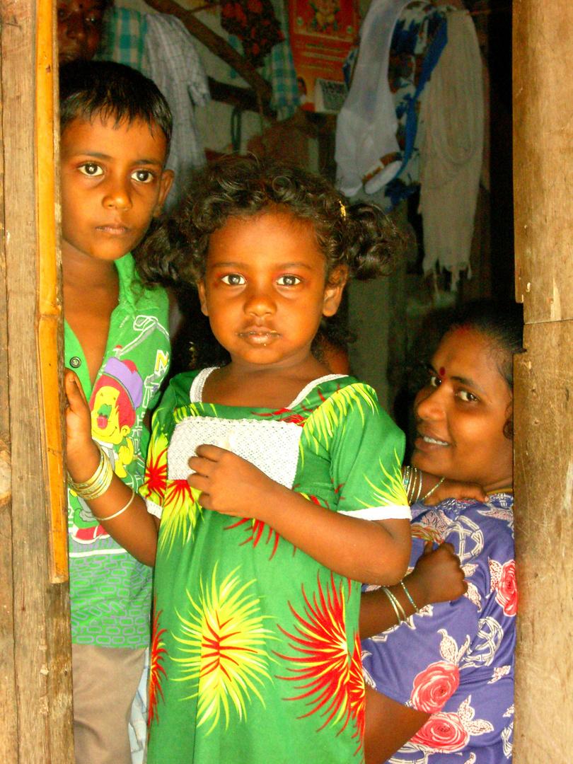 Regard d'une enfant en Inde.