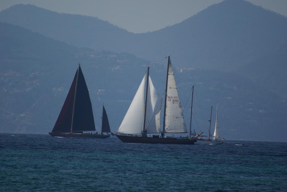 Régates royales en baie de Cannes