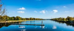 Regattastrecke am Fühlinger See - von Norden nach Süden