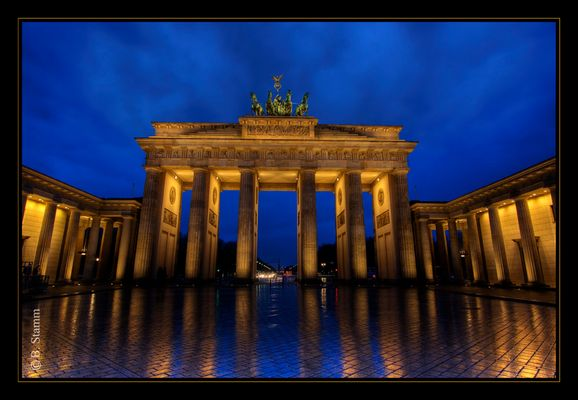 Regen am Brandenburger Tor