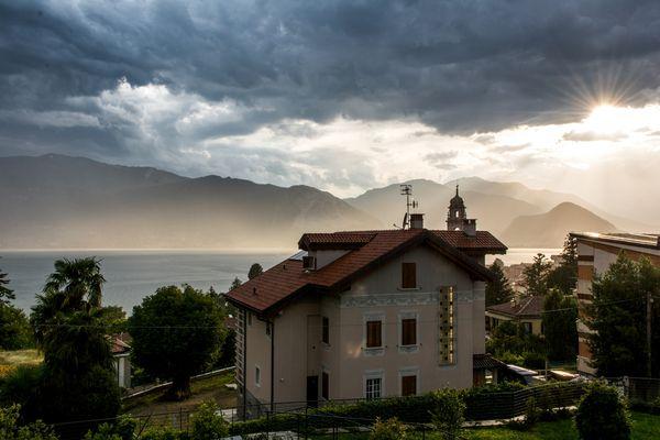 Regen am Lago Magigore