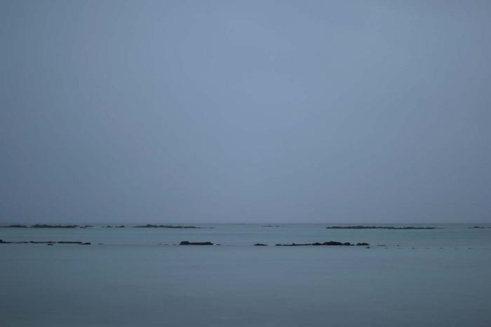 Regen am Meer
