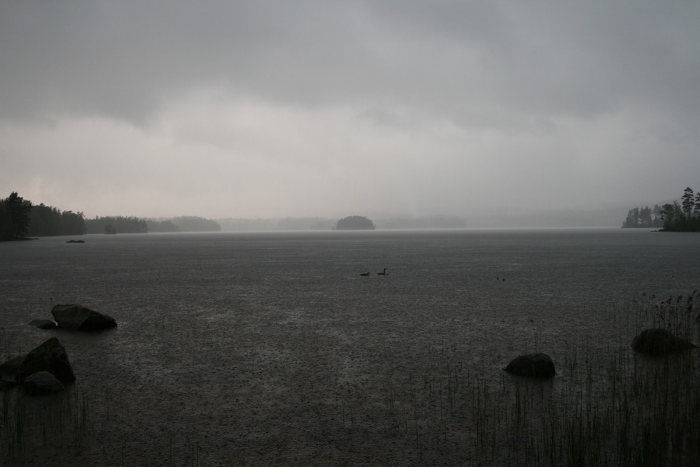 Regen am See Försjön in Smaland