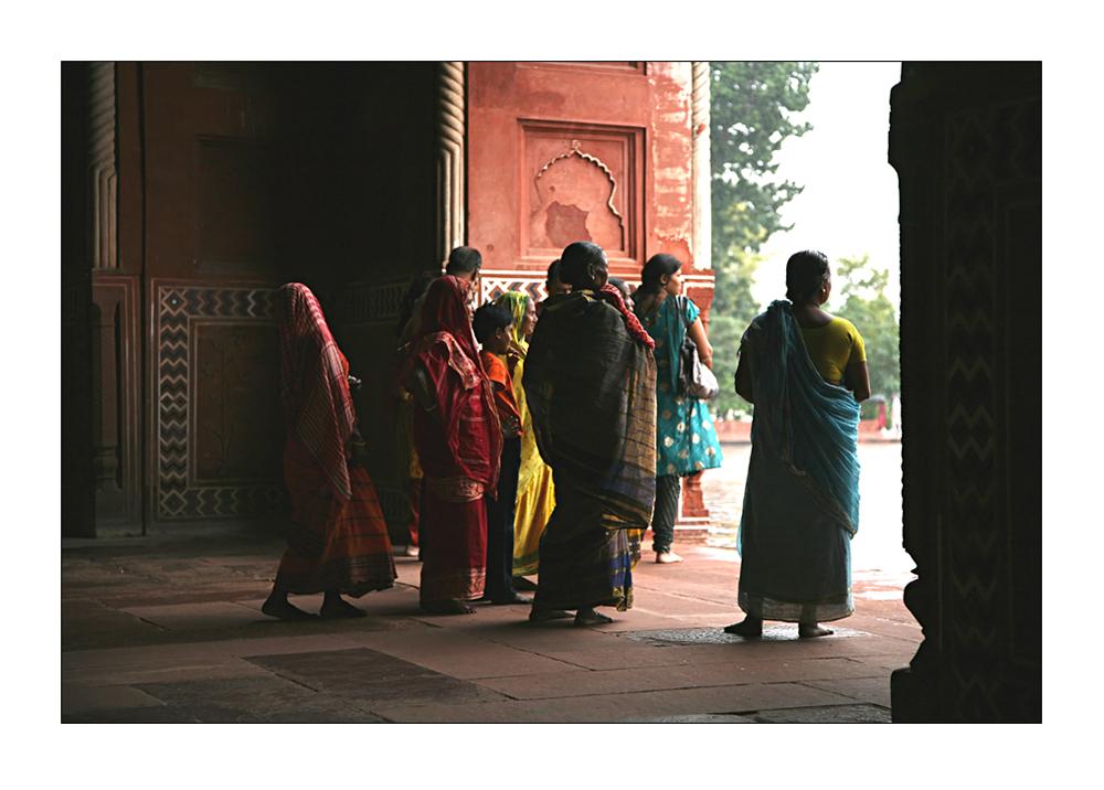 Regen am Taj Mahal