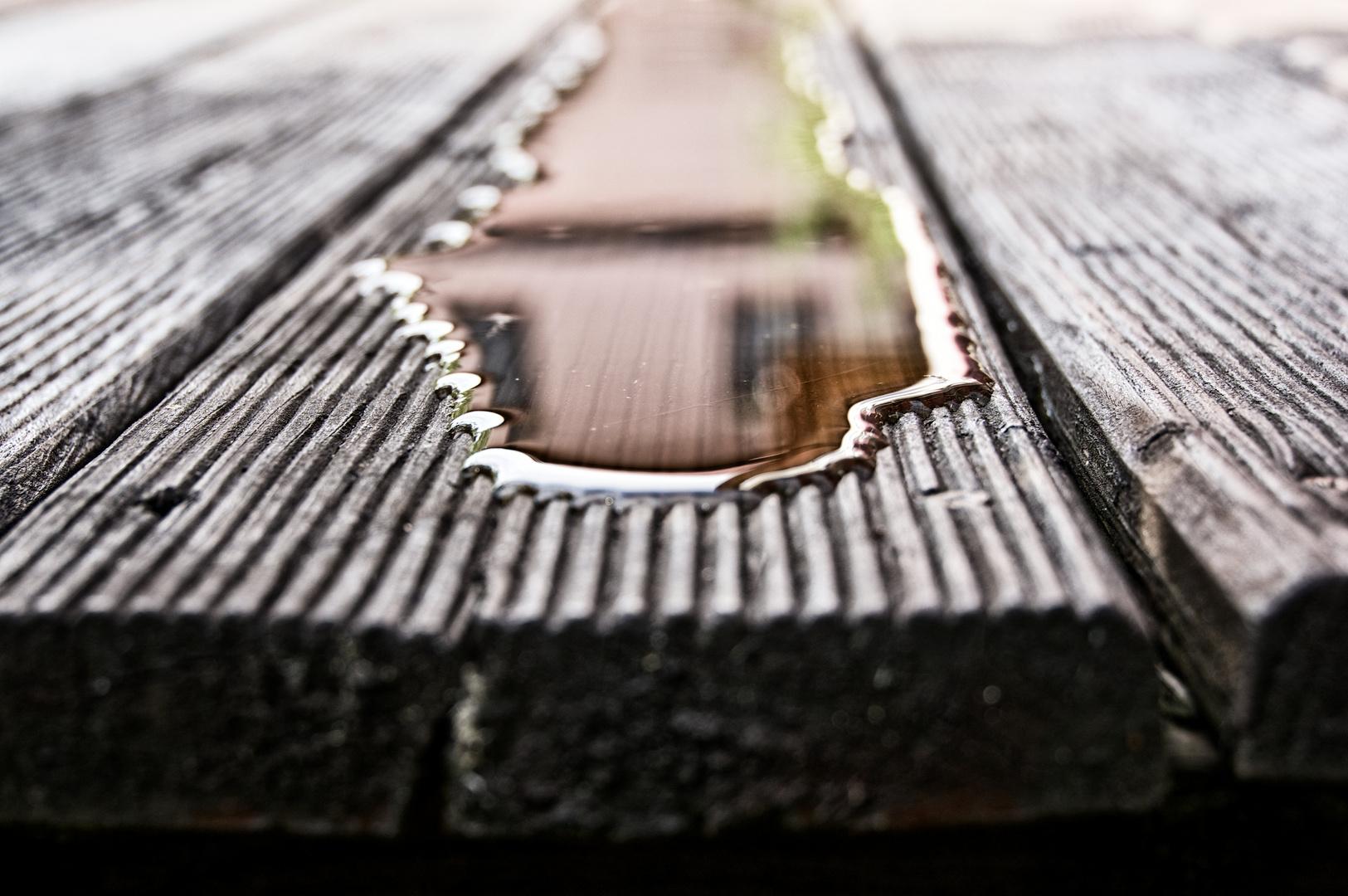 Regen auf der Terrasse