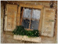 Regen-Fenster-Blick