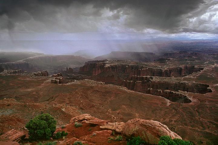 Regen in Canyonlands, USA