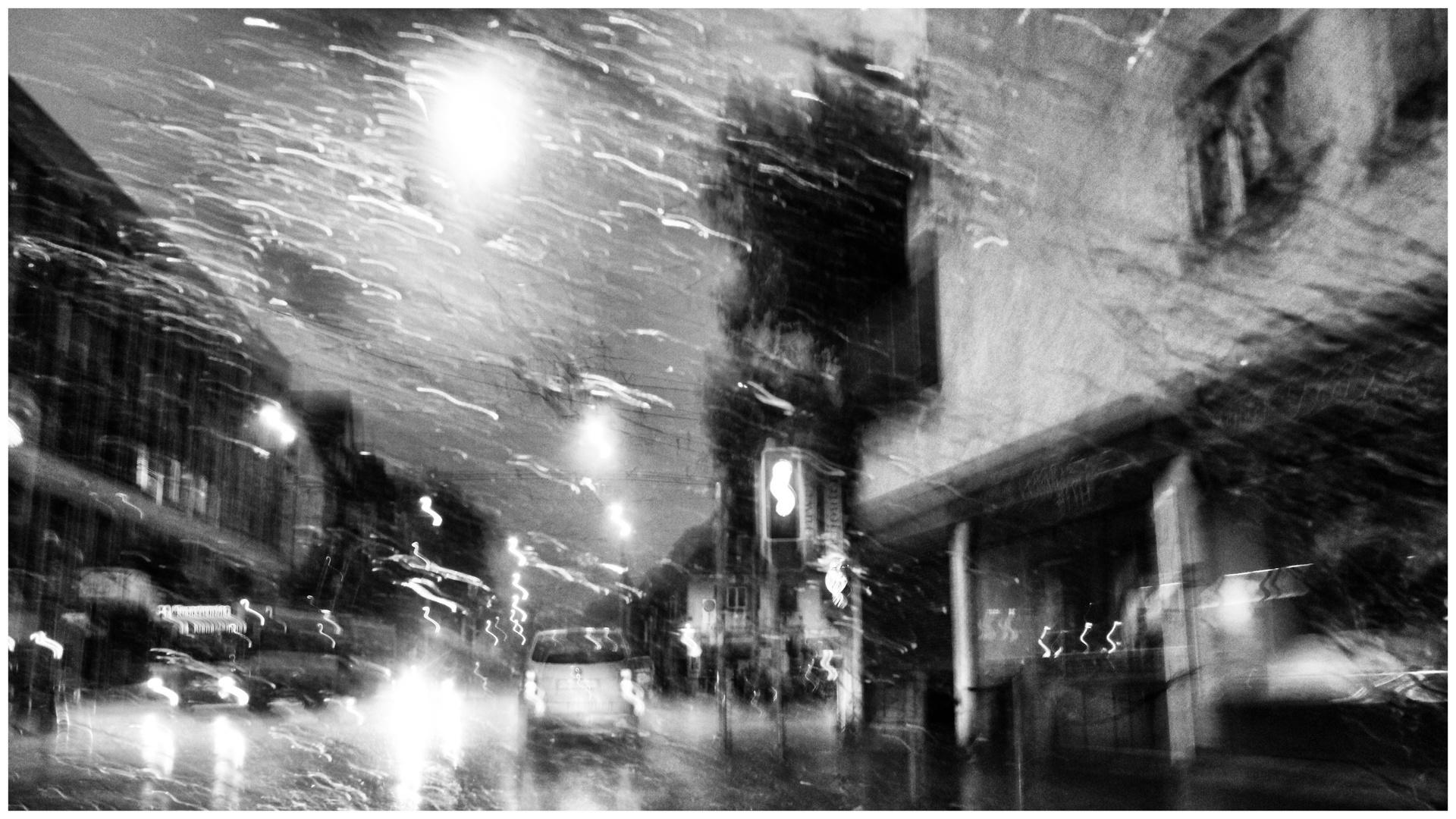 Regen in der Stadt