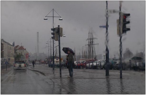 Regen in Flensburg