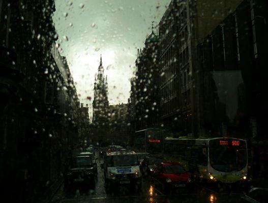 Regen in Glasgow