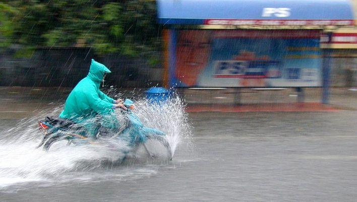 Regen in Hanoi