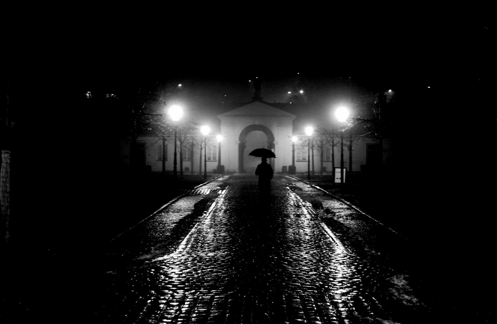 Regen in Prag
