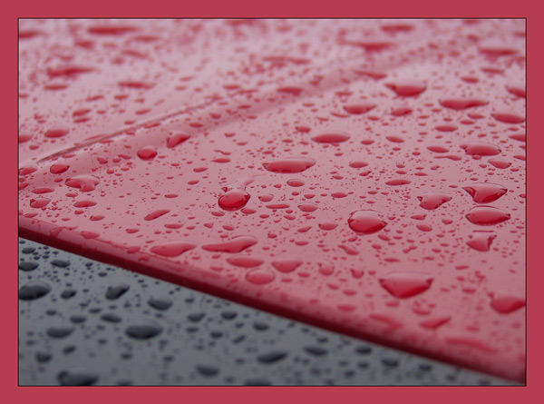 Regen Schwarz-Rot