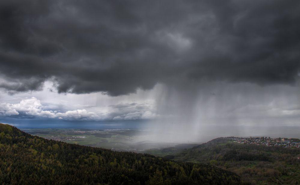 Regen über Gosheim
