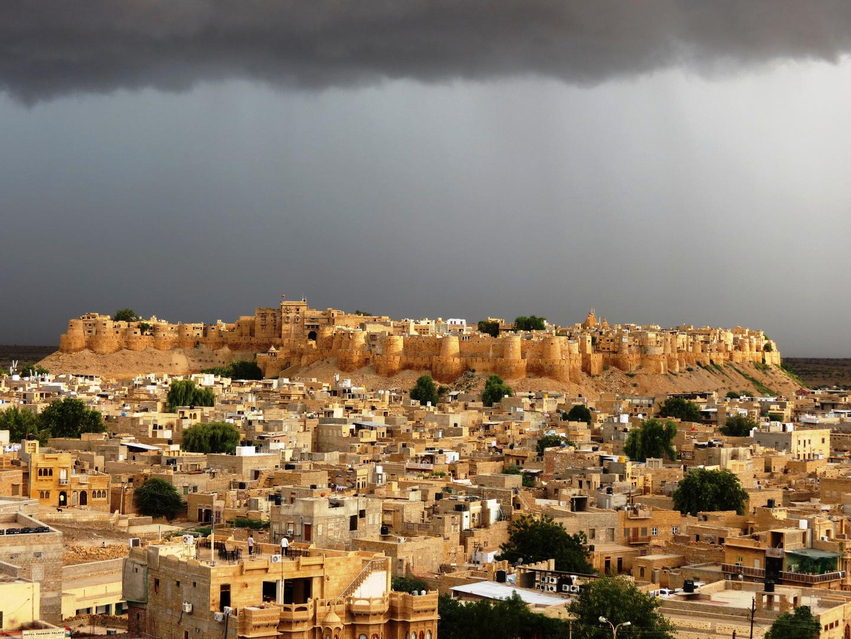 Regen über Jaisalmer