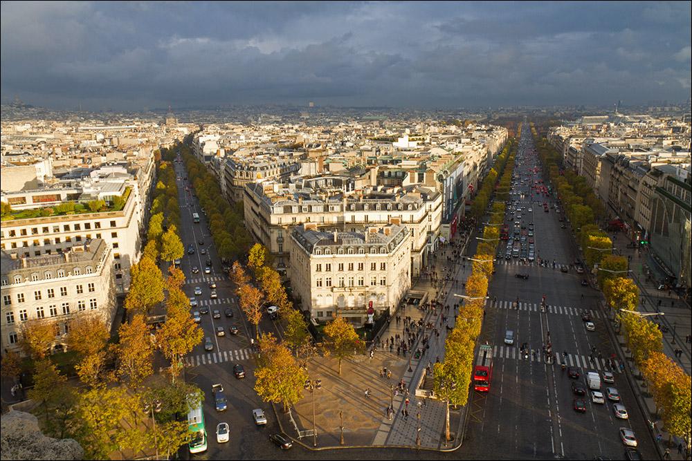 Regenabzug - Hebst in Paris
