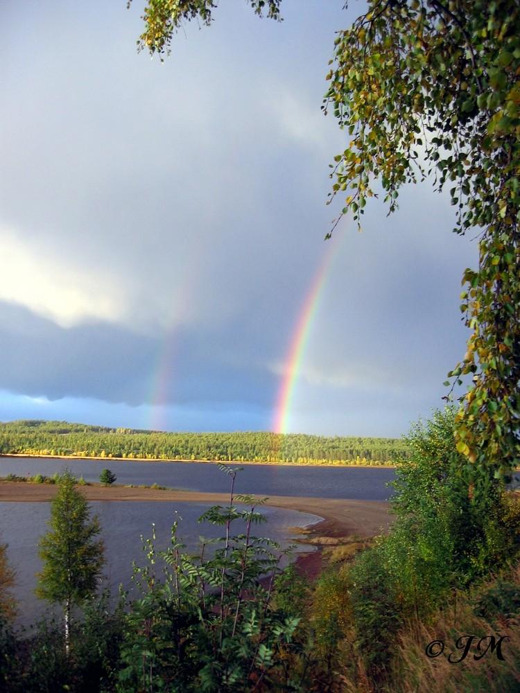 Regenbögen in Schweden