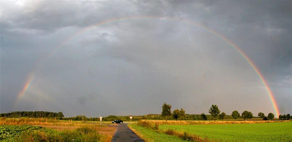 Regenbogen am 16.8.2004