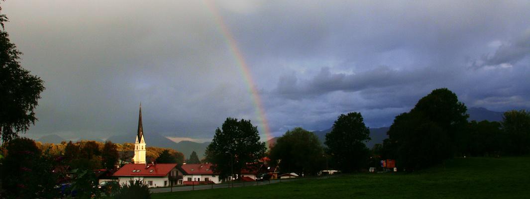 Regenbogen am Abend in Prien