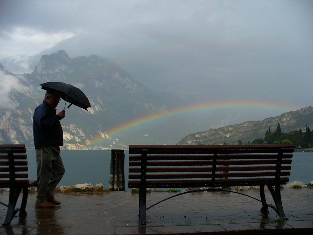 Regenbogen am Gardasee