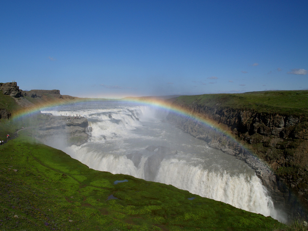 Regenbogen am Gullfoss