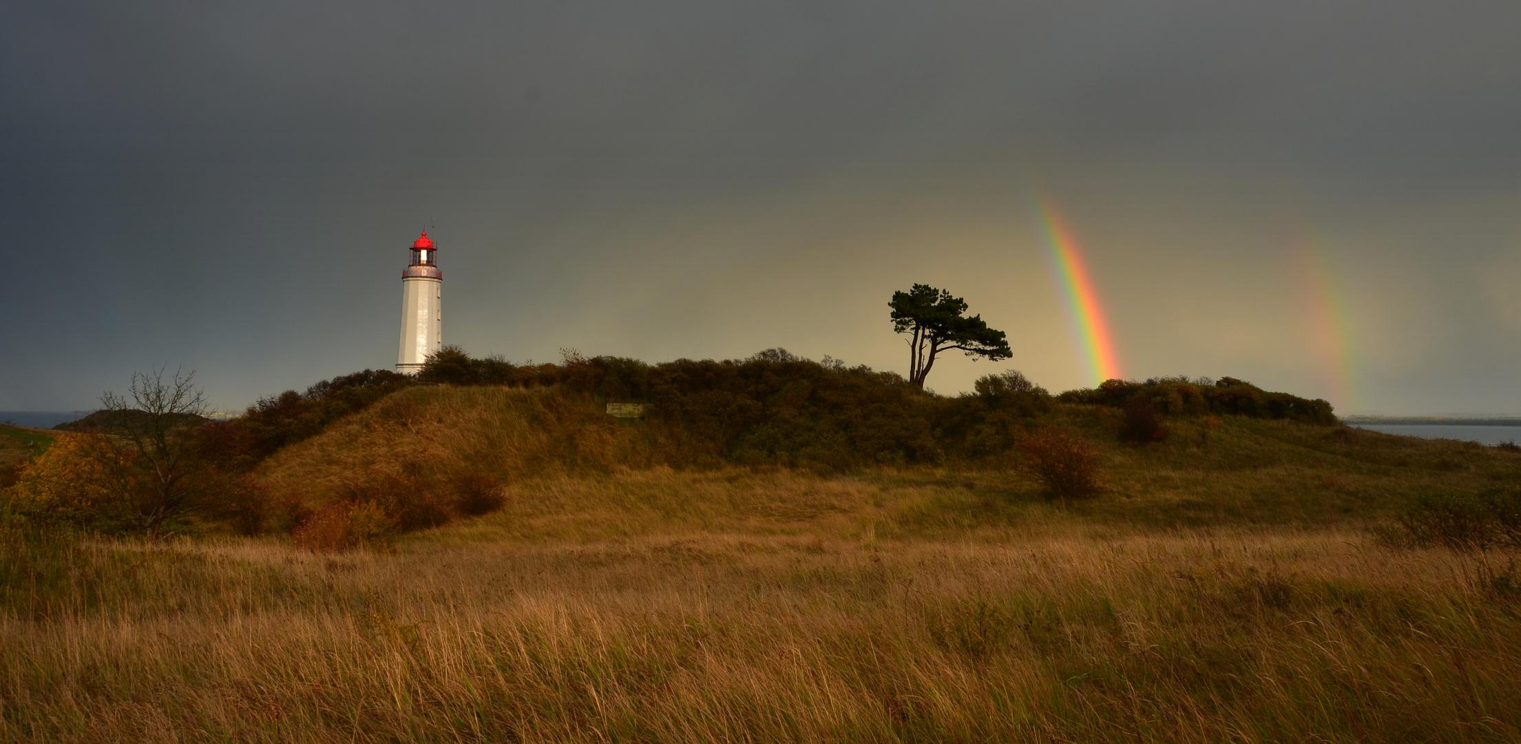 Regenbogen am Leuchtturm Dornbusch
