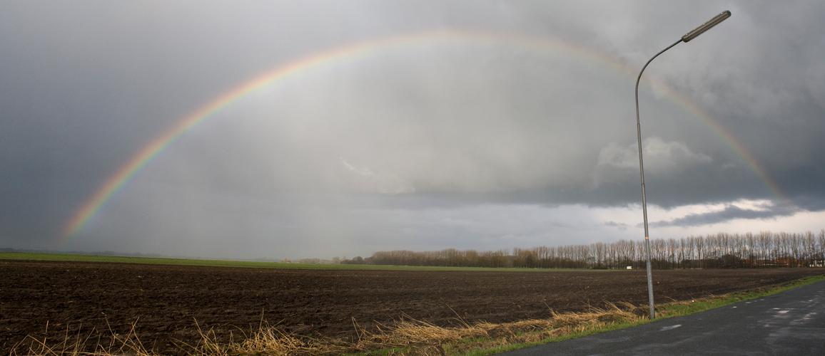 Regenbogen am Ostersonntag...