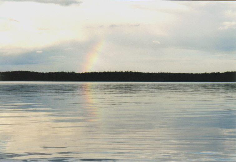 Regenbogen am See