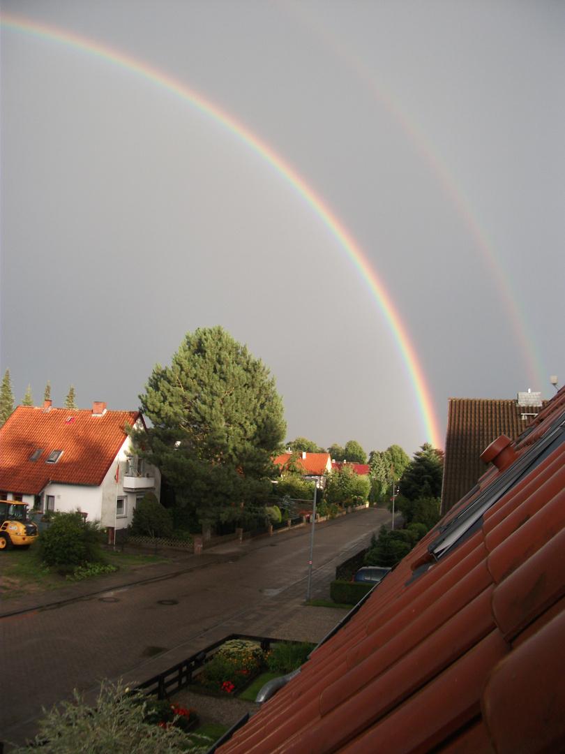 Regenbogen an einem Augustabend