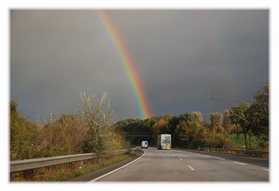 Regenbogen-Autobahn
