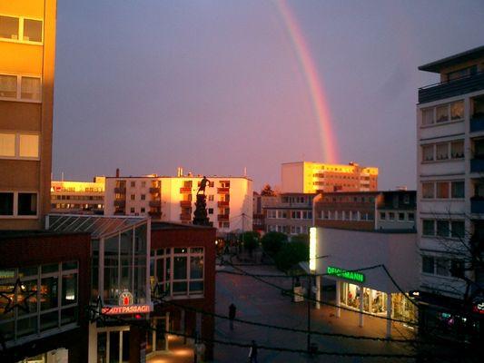 Regenbogen bei Nacht!