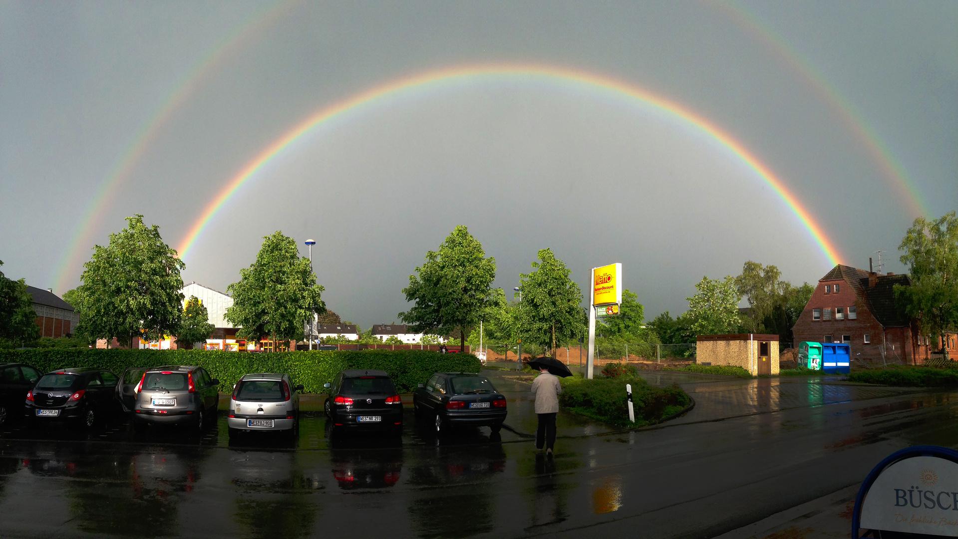 Regenbogen beim Einkaufen
